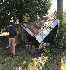 Green Guys Junk Removal provides shed removal in marietta ga
