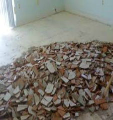 Green Guys Junk Removal provides tile removal in marietta ga